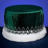 Green and Silver Velvet Kings Crown