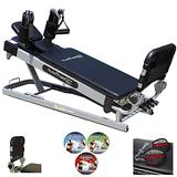 Pilates Power Gym 'Pro' 3-Elevation Mini Reformer Exercise System with 3 Pilates Workout DVDs and The Power Flex Cardio Rebounder(Open Box Special)