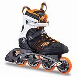 K2 Skate Women's Alexis 80 Inline Skates, Black/Tangerine, 6.5