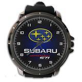 Hot New Custom Subaru Impreza STI Sport Wristwatch Sport Big Face Rubber Band