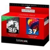 """Lexmark International, Inc - Lexmark No. 36/No. 37 Black And Color Return Program Ink Cartridges - Inkjet - 175 Page Black, 150 Page Color - Black, Color """"Product Category: Print Supplies/Ink/Toner Cartridges"""""""