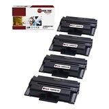 Laser Tek Services Compatible Xerox 3635 108R00795 Toner Cartridge Replacement for Xerox Phaser 3635MFP Printers (Black, 4 Pack) - 10,000 Pages