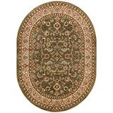 """Noble Sarouk Green Persian Floral Oriental Formal Traditional Area Rug 5x7 ( 5'3"""" x 6'10"""" ) Easy to Clean Stain Fade Resistant Shed Free Modern Contemporary Transitional Soft Living Dining Room Rug"""