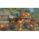 """Toland Home Garden 800281 Farm Pumpkin 18 x 30 Inch Decorative, 18"""" x 30"""", Doormat"""