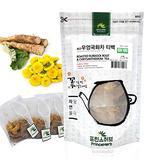 [Medicinal Korean Herb Tea] 100% Natural Roasted Burdock Root with Chrysanthemum Tea (Burdock Root & Chrysanthemum) / 우엉 국화 티백 차 50g (15 teabags)