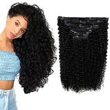 12 Inch Kinky Curly Clip Extensions Remy Human Hair 7 Pieces 100 Gram Natural Hair Clip In Remy Human Hair Extensions Curly Hair Clip In Extensions