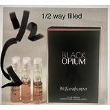 3 Yves Saint Laurent YSL Black Opium EDP 0.04 oz/1.2ml Women Spray Sample Travel Vial