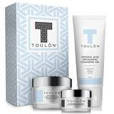 Anti Aging Skin Care Kits: Face Care Set: Glycolic Acid Face Cleanser / Alpha Hydroxy Face Wash, Glycolic Acid 10% Daily Moisturizer & Eye Cream for Dark Circles. Perfect Gift Set Kit for Women & Men