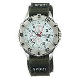 Woven Nylon Watch Strap Fabric Band Buckle Sports Quartz Decorate Chronograph Dial Wristwatch
