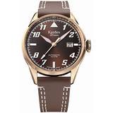 Kentex SKYMAN 6 Pilot Men's Automatic Brown Dial Watch S688X-03