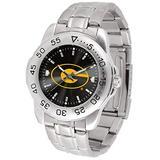 SunTime Men's Grambling State Tigers Sport Steel Anochrome Dial Watch Watch
