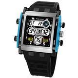 AK1057 Alike Analog-Digital Display Electronic Watch Fashion Sports Wristwatches 50m Water Resistant Diving Watch (Blue)