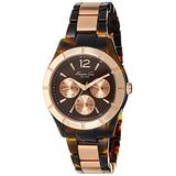 Kenneth Cole Women's Classic Round Two-Tone Plastic Bracelet Watch
