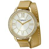 Stuhrling Original Women's 587.04 Deauville Analog Display Quartz Brown Watch