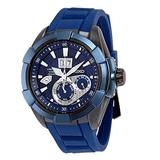 Seiko Kinetic Sapphire Blue Dial Rubber Band Mens Watch SNP121 by Seiko Watches
