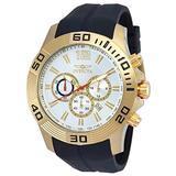 Invicta Pro Diver Chronograph Silver Dial Black Silicone Mens Watch 20301