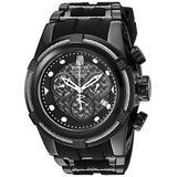Invicta Men's Jason Taylor Stainless Steel Swiss-Quartz Watch with Silicone Strap, Black, 25 (Model: 20413BWB)