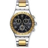 Swatch Men's Golden Youth Quartz Watch with Stainless-Steel Strap, Two Tone, 20 (Model: YVS427G)