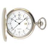 """Desperado""""Roosevelt"""" Chrome Plated Pocket Watch with Swiss Made Quartz Movement"""