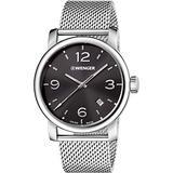 Wenger Urban Metropolitan Black Dial Stainless Steel Men's Watch 011041124