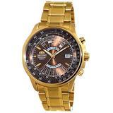 Orient Sports Automatic Multi-Year Calendar Brown Dial Gold Watch EU07003T