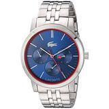 Lacoste Women's 'Metro' Quartz Stainless Steel Watch, Color:Silver-Toned (Model: 2010878)