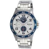Titan Workwear Men's Chronograph Watch - Quartz, Water Resistant, Stainless Steel Strap - Silver Band and White Dial