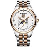 Reef Tiger Generous Fashion Watches Mens Moon Phase Big Date Steel Rose Gold Analog Watch RGA1928 (RGA1928-PWT)