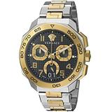 Versace Men's Dylos Chrono Swiss-Quartz Watch with Stainless-Steel Strap, Two Tone, 11 (Model: VQC100016)