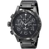 Nixon Men's A486632 48-20 Chrono Watch, Color: Gunmetal, Color: Gunmetal, Woman, Ladies, Girls, Model:A486632, Wristwatch, Wrist Watch