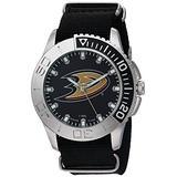 Game Time Men's 'Starter' Metal and Nylon Quartz Analog Watch, Color:Black (Model: NHL-STA-ANA)