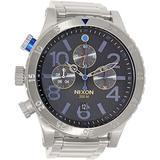 Nixon Men's A4861529 48-20 Chrono Watch, Color: Midnight GT, Color: Midnight GT, Woman, Ladies, Girls, Model:A4861529, Wristwatch, Wrist Watch