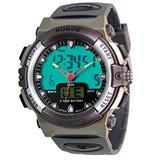 Rogue Chronograph 44mm Dial Sport Analog Digital Alarm Stopwatch Strap Gray / Black Watch Luminous Modes: Timekeeping, Stopwatch, Alarm Hourly chime, stopwatch (1/100 second)
