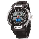 Rogue Chronograph Mens Sport Analog Digital Alarm Stopwatch Strap Watch Luminous RG10361SL Modes: Timekeeping, Stopwatch, Alarm Hourly chime, stopwatch (1/100 second)