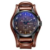 Curren Watch Men Military Sport Digital Watch Waterproof Quartz Watch Leather Mens Watch Men Wristwatch