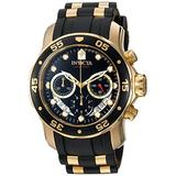 Invicta Men's Pro Diver Stainless Steel Quartz Watch with Silicone Strap, Two Tone, 26 (Model: 21928)