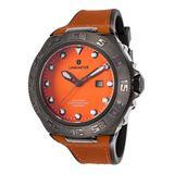 Lancaster Italy Ola1062l-Gun-Ar-Ar Men's Blue Ridge Orange and Black Rubber Orange Dial Watch