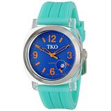 TKO ORLOGI Women's TK558-OT Milano Junior Acrylic Case Blue Dial Watch