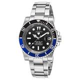 Legend 1001-11-Blb Deep Blue Stainless Steel Black Dial Stainless Steel Watch