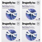 (4 PACK) - Dragonfly Tea - Earl Grey Rooibos Tea , 40 Bag , 4 PACK BUNDLE