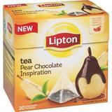 Lipton Tea Pear Chocolate Inspiration - Premium Pyramid Tea Bags (20 Count Box) [PACK OF 3]