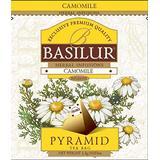 Basilur , 100% Pure Chamomile Tea , Caffeine Free , Pyramid Tea Bags , Biodegradable Luxury Tea bags , For Hotels, Restuarants, Cafes and Tea lovers , Ultra-Premium Tea Sachets in Box , Pack of 50