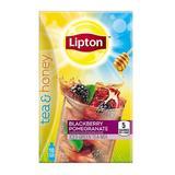 Lipton Tea & Honey To-Go Packets, Blackberry Pomegranate Iced Green Teaÿ (Pack of 2)