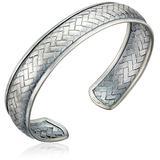 Silver Woven Handmade Bangle