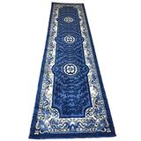 Traditional Long Runner Area Rug Blue Persian Design 101(32 inchesX15 feet 10inches)