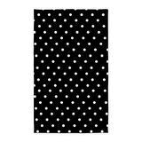 CafePress Black and White Polka Dot 3'X5' Decorative Area Rug, Fabric Throw Rug
