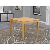 East West Furniture OXT-OAK-T Dining Room Table- Square Table Top and 4 Wooden Legs Dining Room Table Oak Finish