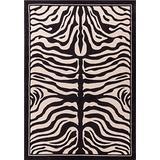 Zebra Print Rug Contemporary Area Rugs 5x8 Zebra Rugs Large 5x7 Zebra Rugs for Living Room Animal Print Rugs (Medium 5'x8')