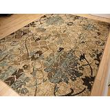 Large 8x11 Contemporary Rugs for Living Room Dining Rugs 8x10 Clearance Under 100 Indoor Rugs Office Blue Beige Cream Rugs