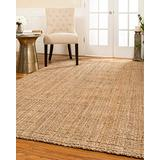 Natural Area Rugs - Jute Rug, Calvin Collection, Basketweave & Chunky Texture, Beige Area Rugs 5 x 8, Superior and Stylish Washable Area Rugs, Carpet Rugs for Living Room, Modern Rugs for Living Room